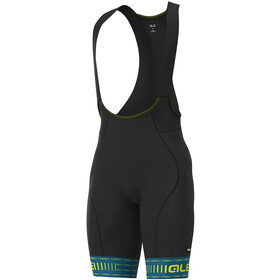Alé Cycling Graphics PRR Green Road Bib Shorts Heren, blue/fluo yellow